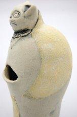 画像4: 猫の紳士(花瓶/腹部と肩に花模様) (4)