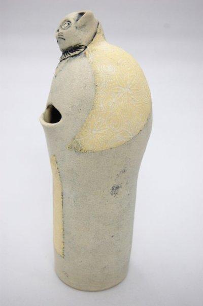 画像3: 猫の紳士(花瓶/腹部と肩に花模様)