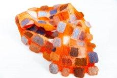 画像1: ブロックマフラー(オレンジ) (1)