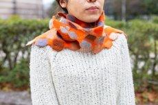画像5: ブロックマフラー(オレンジ) (5)