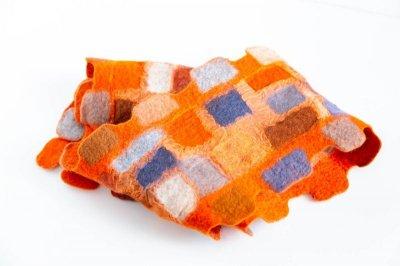 画像2: ブロックマフラー(オレンジ)