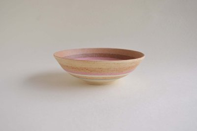 画像1: 縞中鉢・ブルー&ピンク