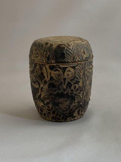 画像2: 茶器 フクロウ(木のふた付)