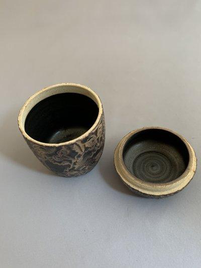 画像3: 茶器 フクロウ(木のふた付)