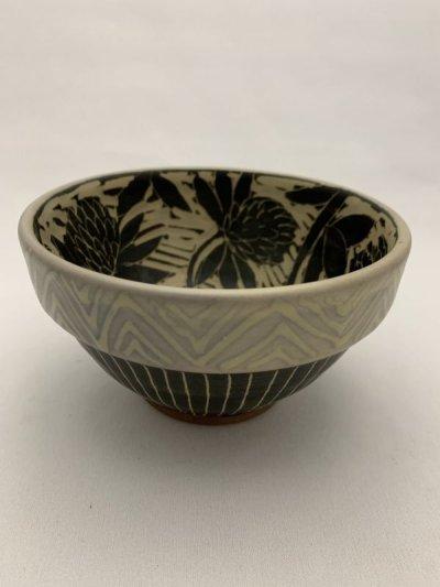 画像1: 掻き落とし小鉢