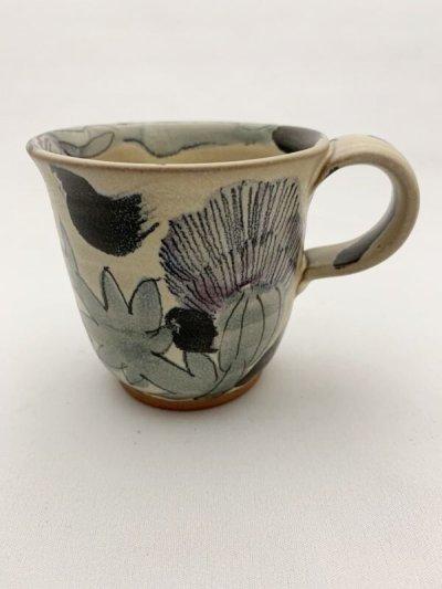 画像1: 花絵マグカップ