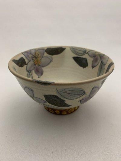 画像1: 花絵ご飯茶碗