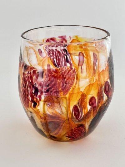 画像1: フラワーグラス レッド