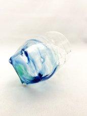 画像4: 4つ足オールドグラス-ブルー (4)