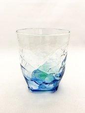 画像1: 4つ足オールドグラス-ブルー (1)