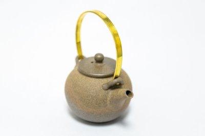 画像1: 金属手 茶壺