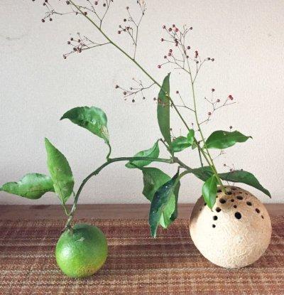 画像3: 球・花差し(還元焼成 マット釉)