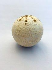 画像1: 球・花差し(還元焼成 マット釉) (1)