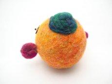 画像3: まん丸ポーチ(橙) (3)