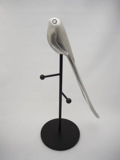 画像1: 鳥の靴ベラ キーフック付き