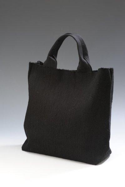 画像1: さき織バッグ [BLACK]