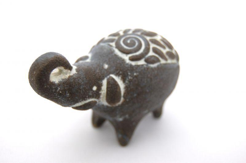 画像1: ミニコロアニマル(ゾウ/黒) (1)