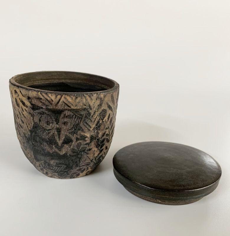 画像1: 茶器 フクロウ (1)