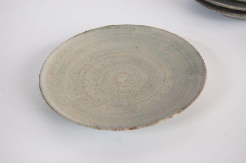 画像1: 小皿(ブルーグレー) (1)