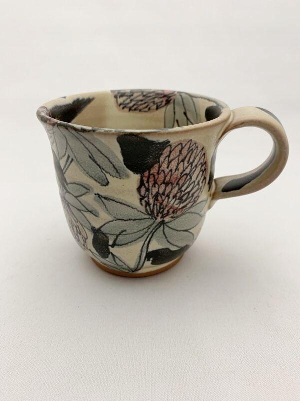 画像1: 花絵マグカップ (1)