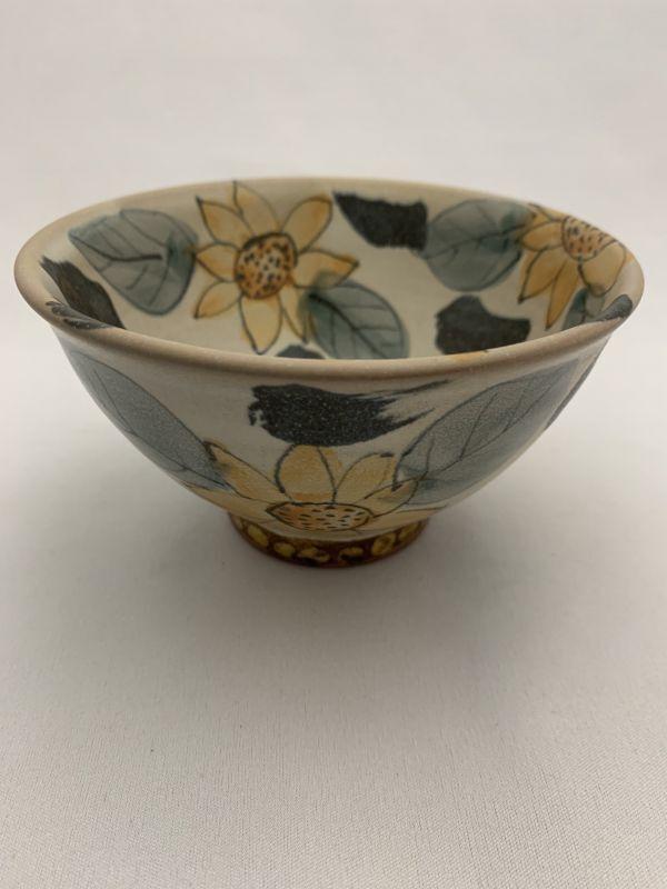 画像1: 花絵ご飯茶碗 (1)