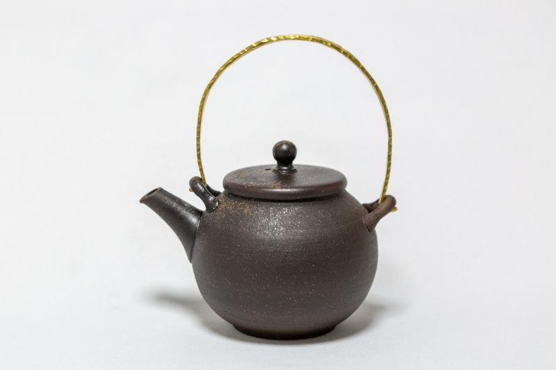 画像1: 金属手 茶壺 (1)