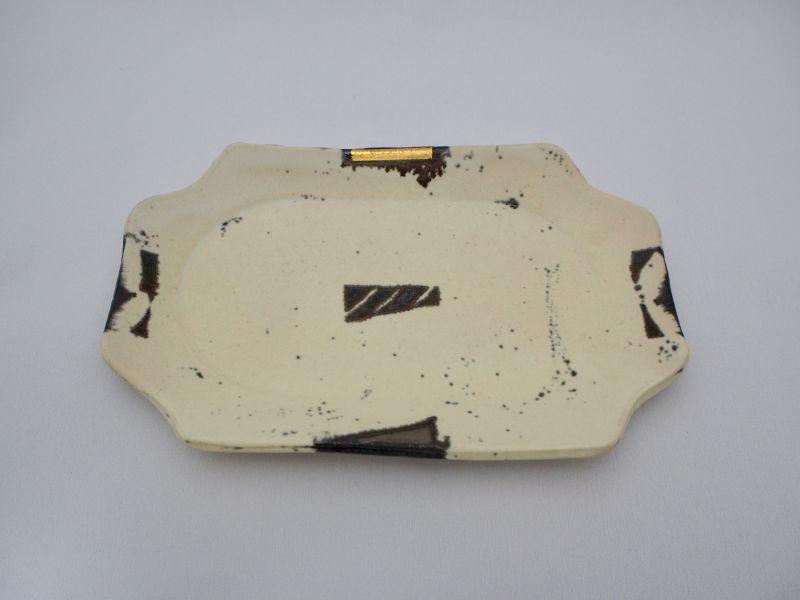 画像1: BW金銀彩長角皿A (1)