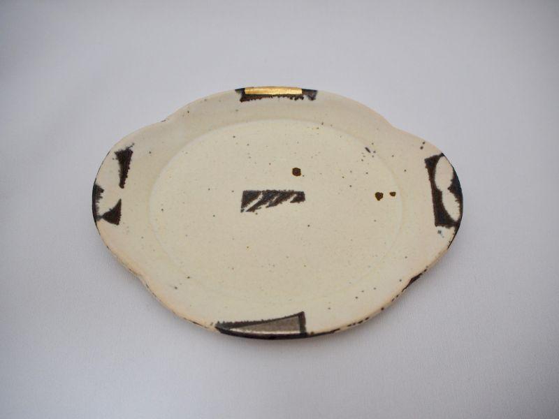 画像1: BW金銀彩雲型皿E (1)