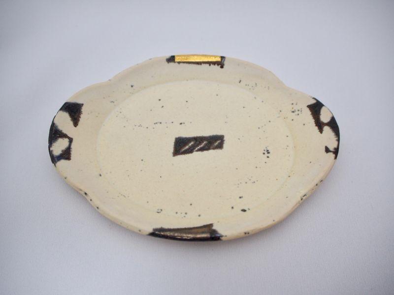 画像1: BW金銀彩雲型皿F (1)