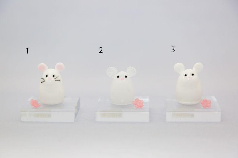 画像1: ねずみ指人形(白) (1)