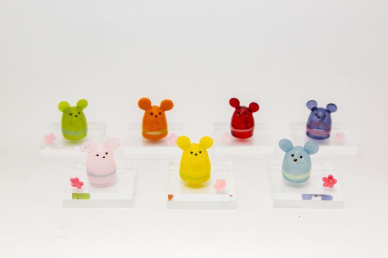 画像1: ねずみ指人形(カラー) (1)