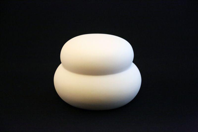 画像1: 磁器鏡餅 (1)