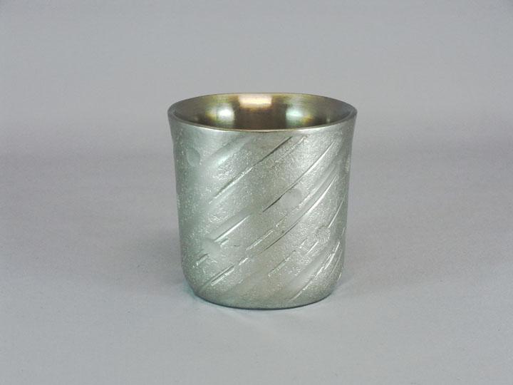 画像1: 銀錫二重ぐい呑 (1)