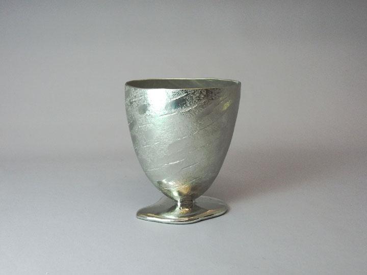 画像1: 銀錫足付カップ (1)